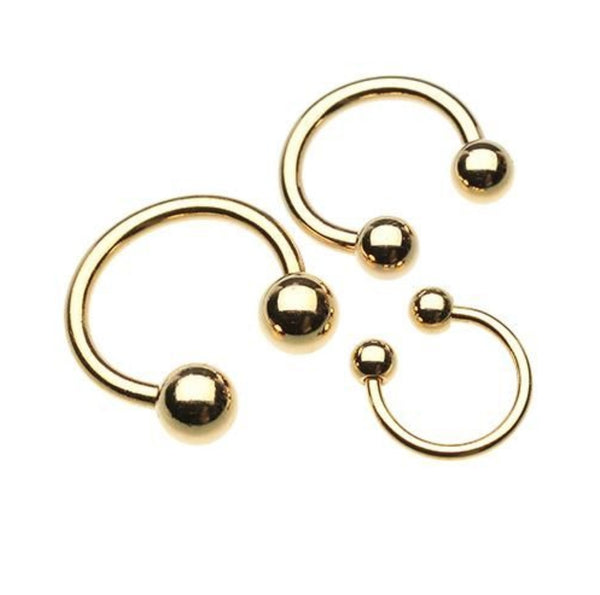 Gold Plated Basic Circular Belly Button Ring
