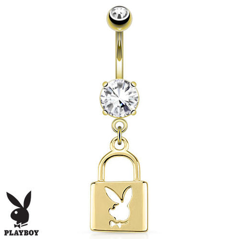 14k Gold Plated Offical Licensed Platboy Navel Ring