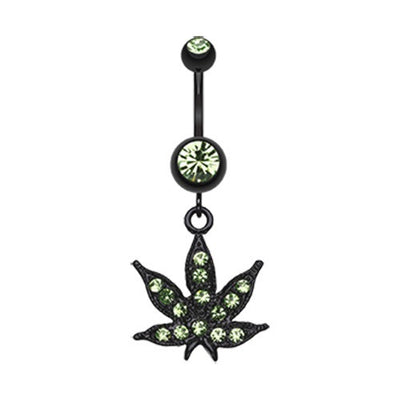 Vivid Green Mary J Belly Dangle