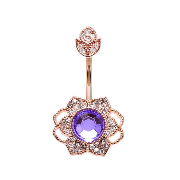 Lotus Flower Belly Ring