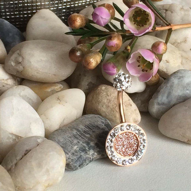 Rose Gold Navel Ring Jewellery