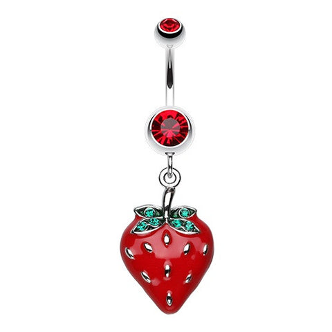 Luscious Strawberry Fields Dangle Belly Button Ring