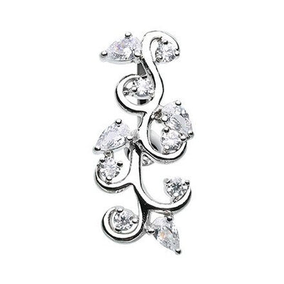 Crystal Vine Top Down Belly Ring