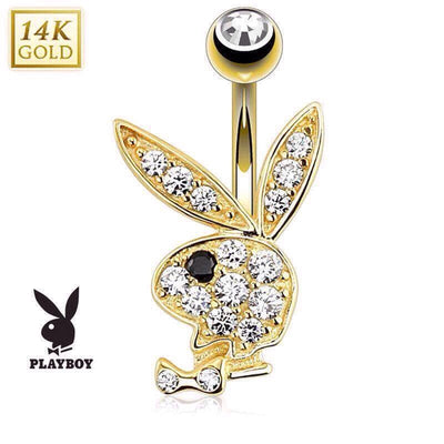 Official Playboy Solid Gold Belly Piercing Ring