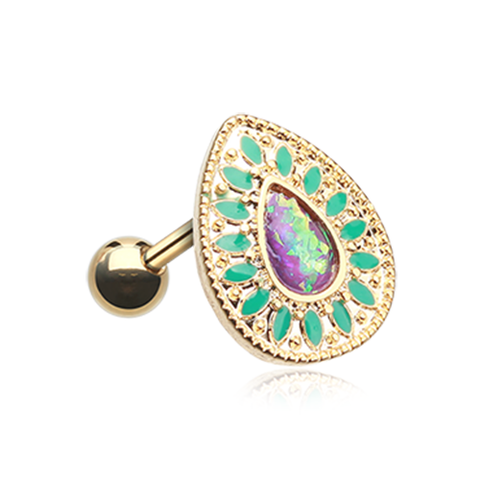 Golden Charkra Opal Tragus Cartilage Earring