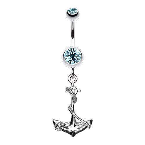 Viking Anchor Belly Dangle