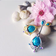 Golden Elegant Turquoise Aurora Vintage Belly Ring