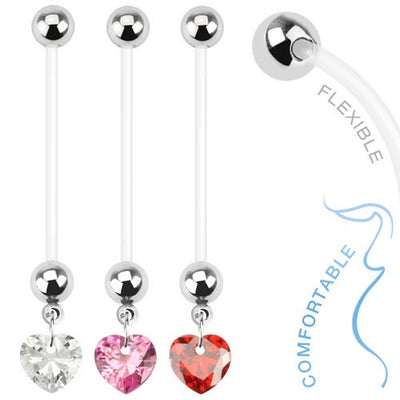 Charming Heart Dangling Pregnancy Belly Ring