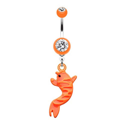 Acrylic Koi Fish Basic Navel Ring