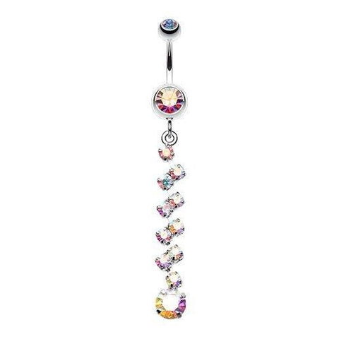 """Auroras Exquisite Descent"" Journey Belly Ring"