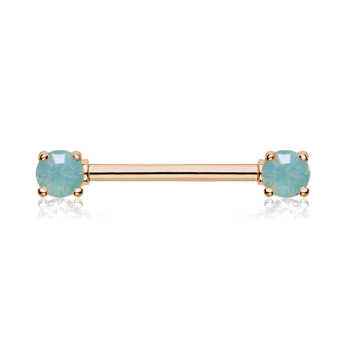 Rose Gold Jade Opalite Sparkle Nipple Ring