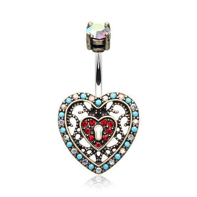 Boho Heart Belly Ring