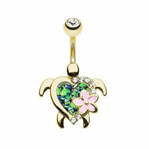 Sea Turtle Belly Ring