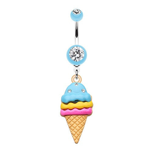 Gelato Delight Sparkle Dangle Navel Ring Jewellery