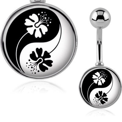 Tropical Beach Hibiscus Yin & Yang Belly Bar