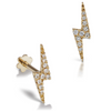 Diamond Lightning Bolt YellowGold Stud Tragus