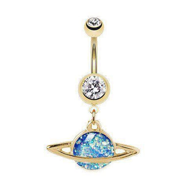 Out of this World Saturn Belly Button Rings