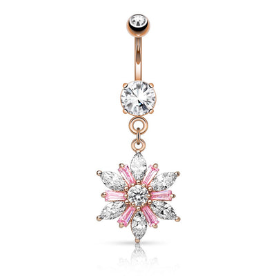 Imani Blush Blosoom Belly Dangle