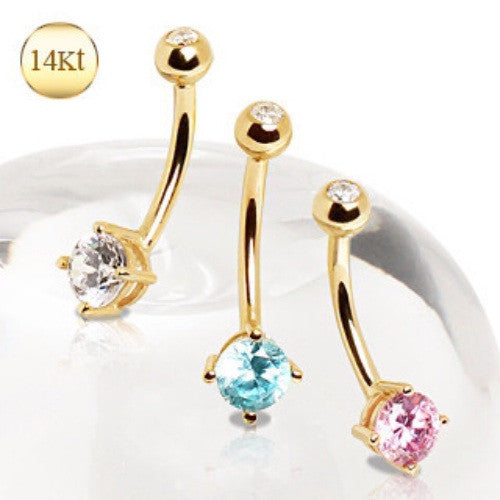 14k Solid Gold Belly Button Rings