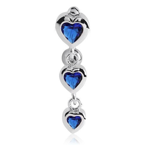 Romantic Heart Belly Button Rings