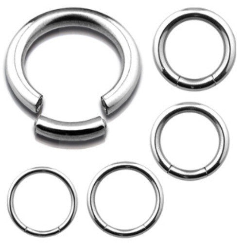 Surgical Steel Segment Navel Ring Jewellery