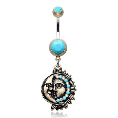 Sun and Moon Belly Button Rings Australia