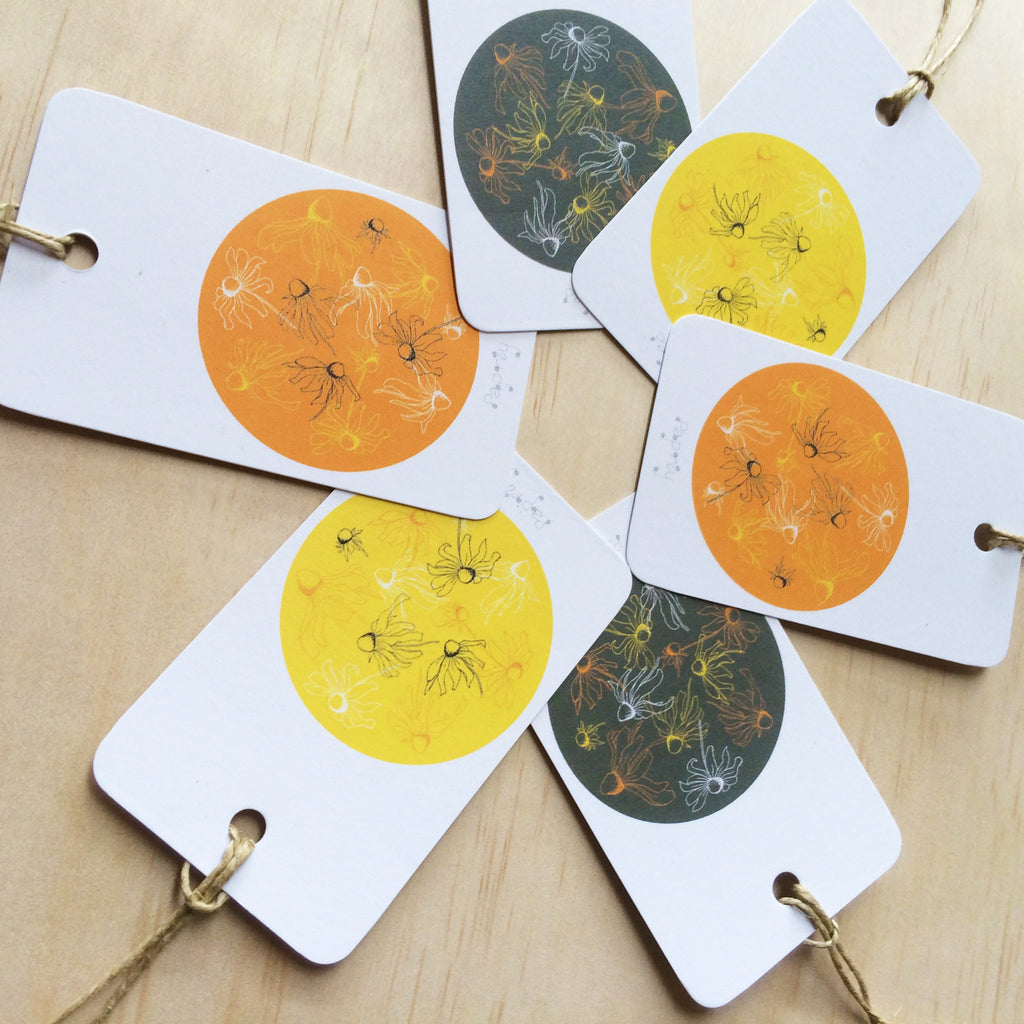Black Eyed Susie 6 Gift Tags