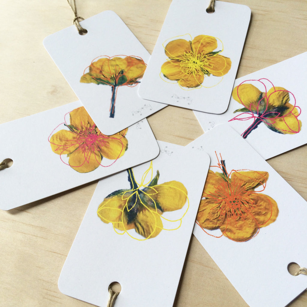 Buttercupped 6 Gift Tags