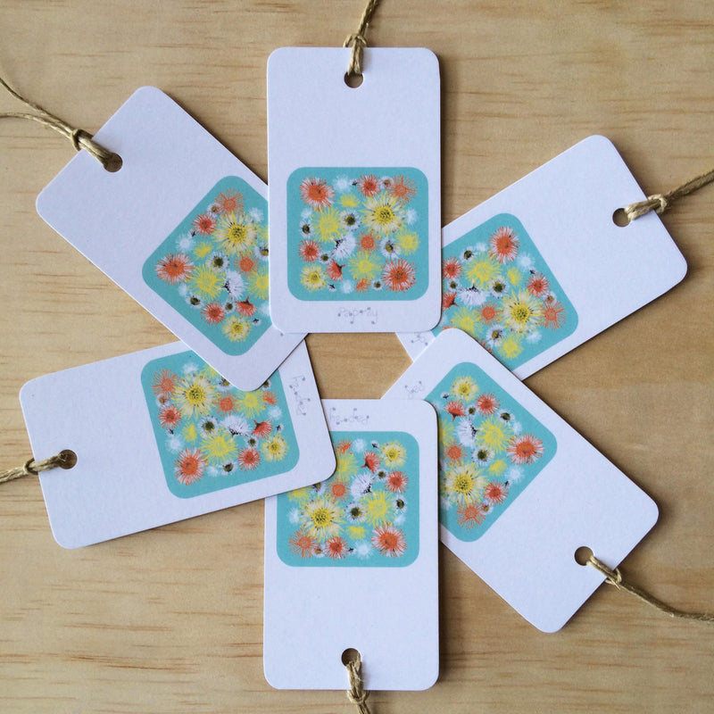 Daisy A Day Blue 6 Gift Tags