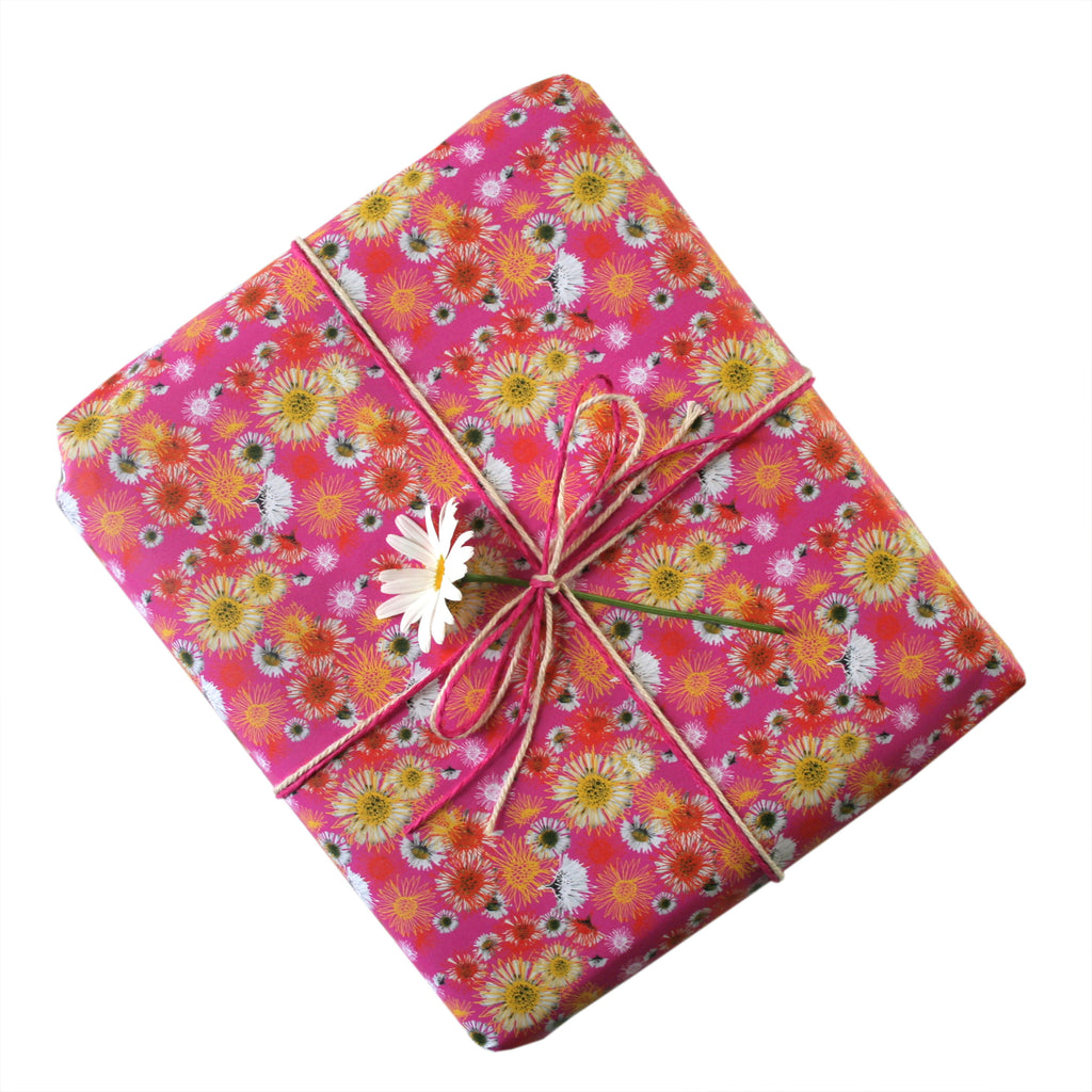 Daisy A Day Pink Gift Wrapping Paper