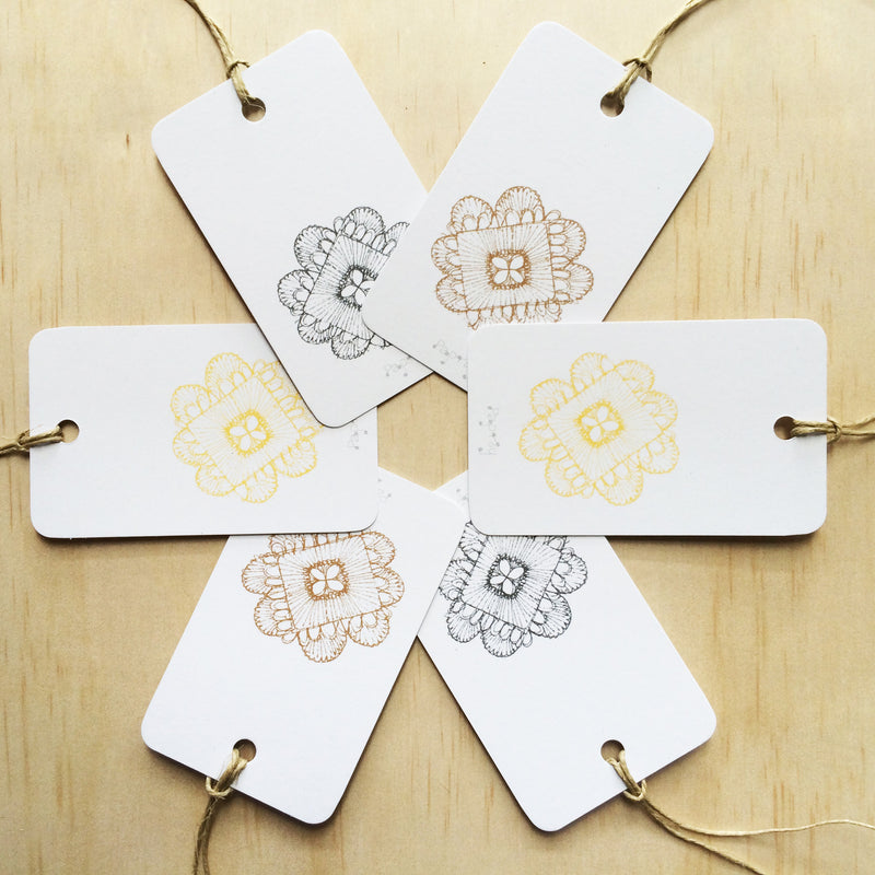 Doily Weave 6 Gift Tags