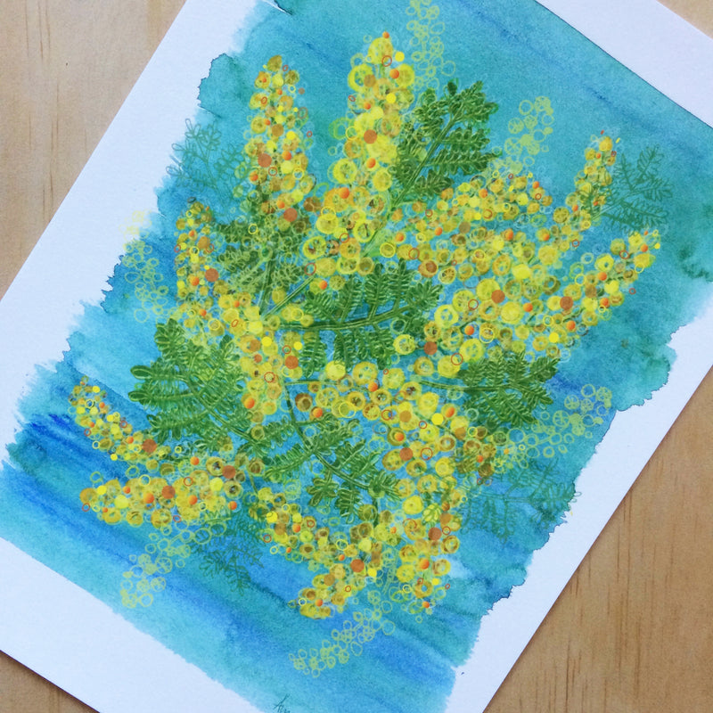 Wattle Nature Print A4