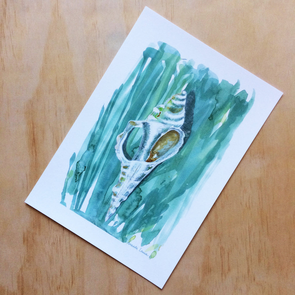 Seashell Nature Print A4