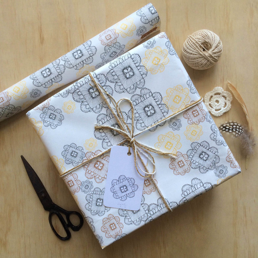 Doily Weave Gift Wrapping Paper