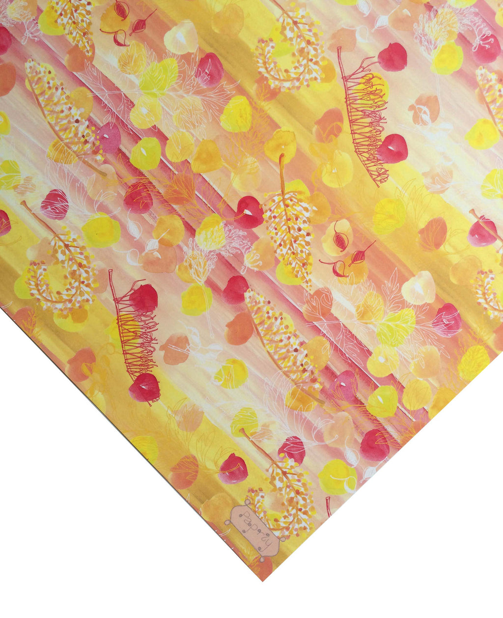 Golden Grevillea Gift Wrapping Paper