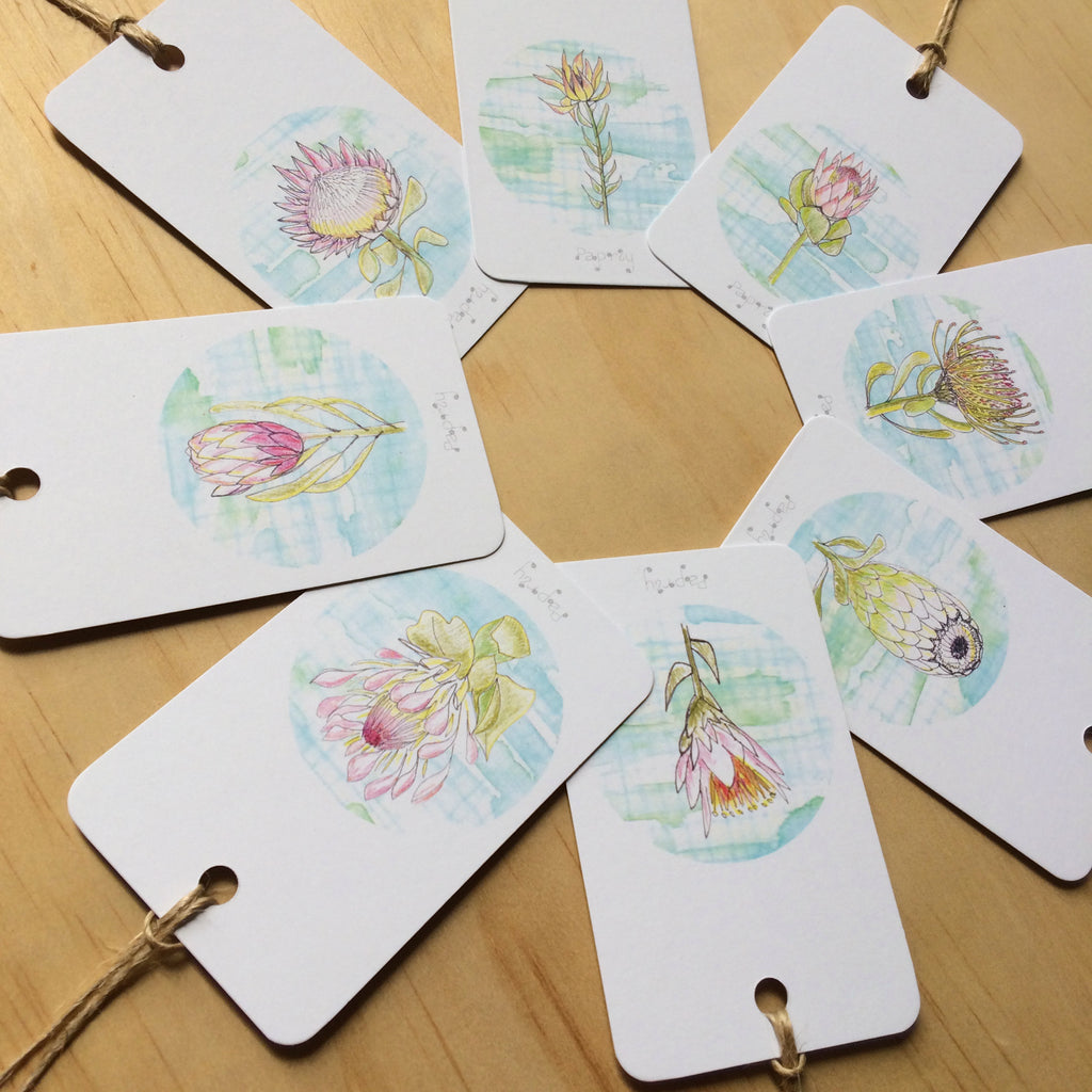 Protea Patch 8 Gift Tags