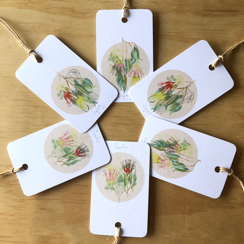 Australian Bush Mistletoe 6 Gift Tags