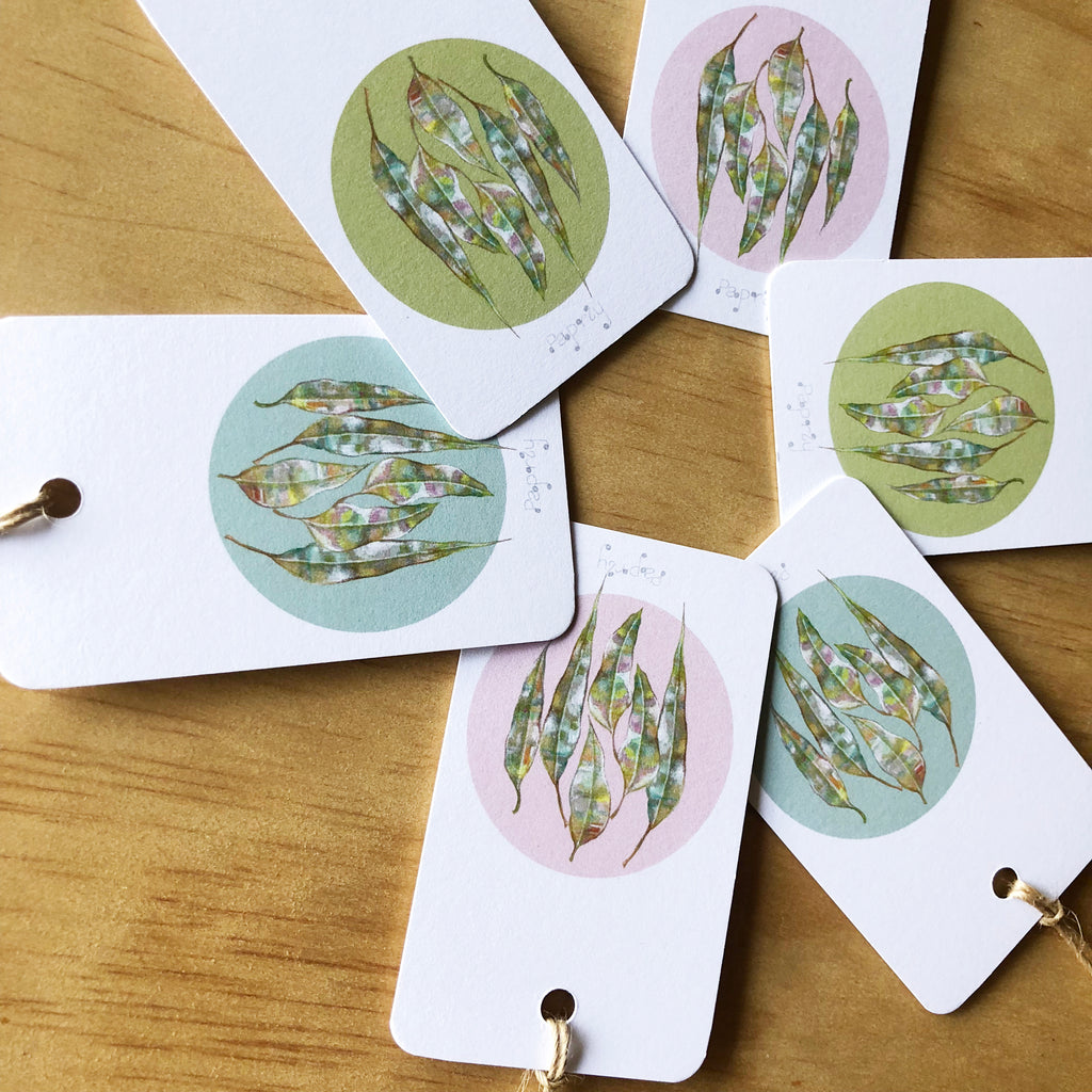 Gum Leaves 6 Gift Tags