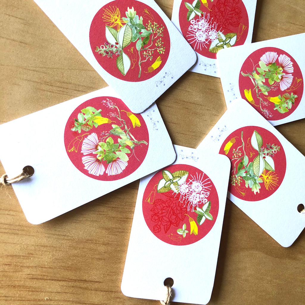 Christmas Floral 6 Gift Tags