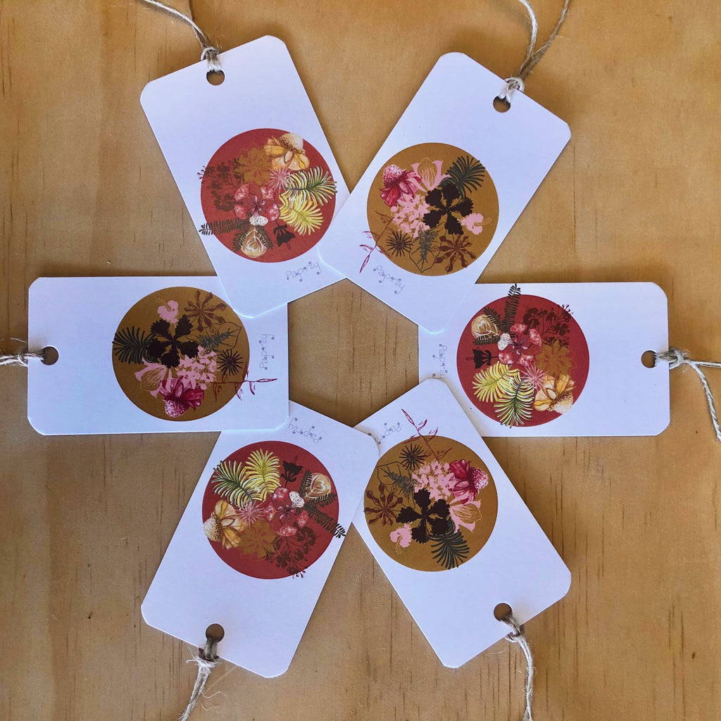 Tropical Christmas Spice 6 Gift Tags