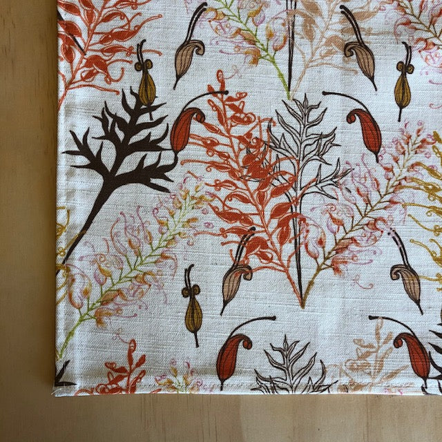 Bush Grevillea Oatmeal Tea Towel