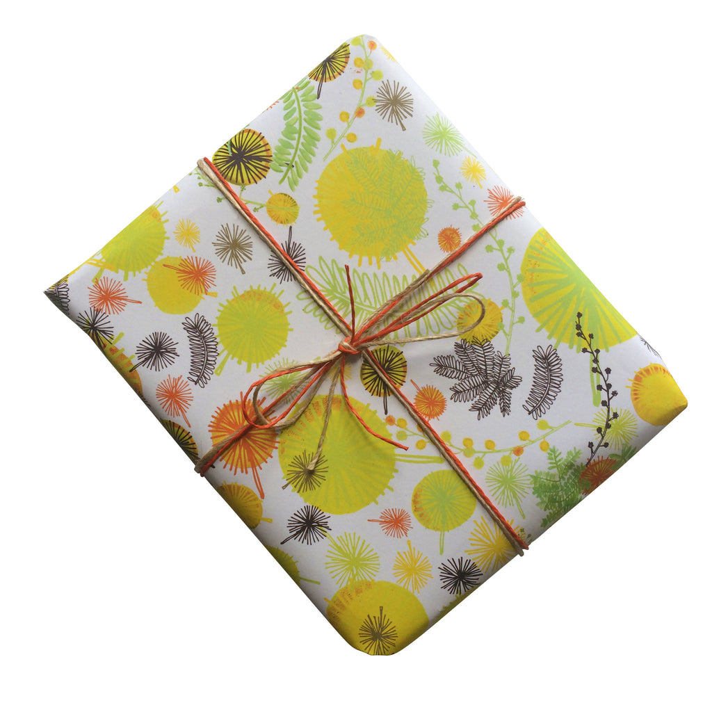 Wattle Gift Wrapping Paper
