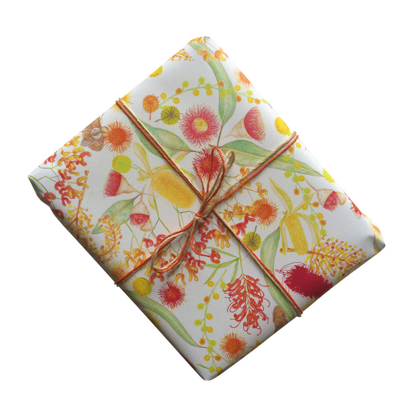 Australian Botanicals White Gift Wrapping Paper