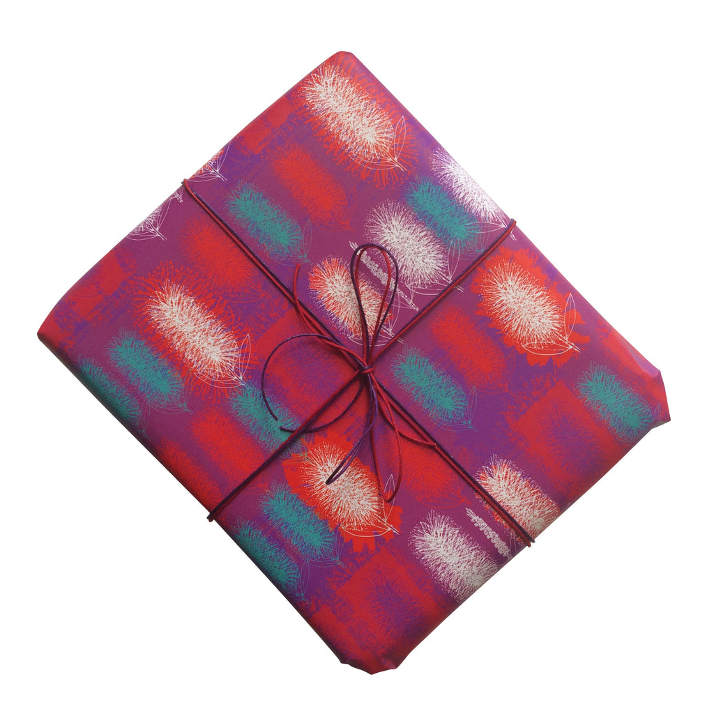 Bottlebrush Gift Wrapping Paper