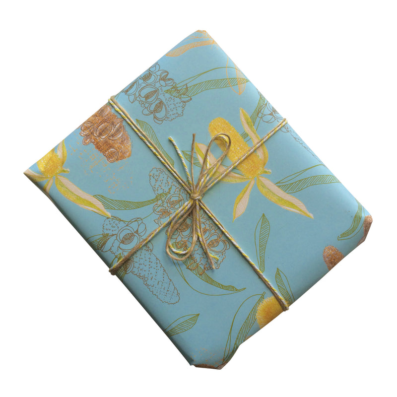 Golden Banksia Gift Wrapping Paper