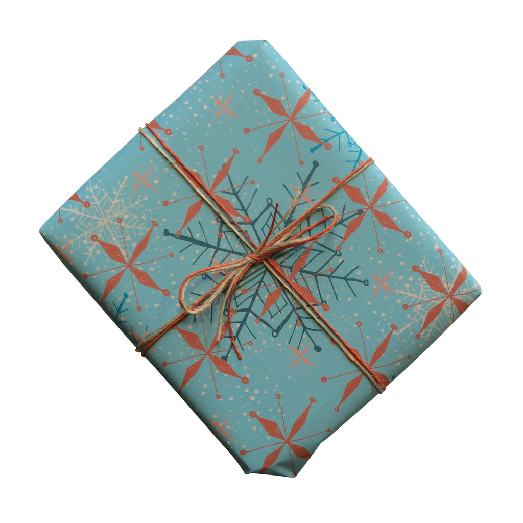 Retro Christmas Snowflake Gift Wrapping Paper