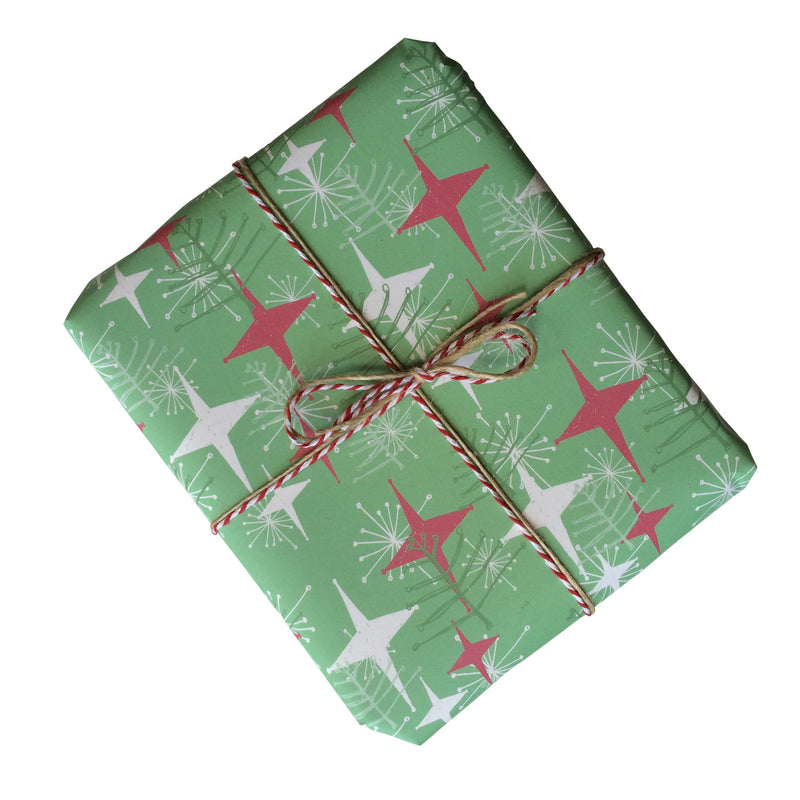 Retro Christmas Trees Gift Wrapping Paper