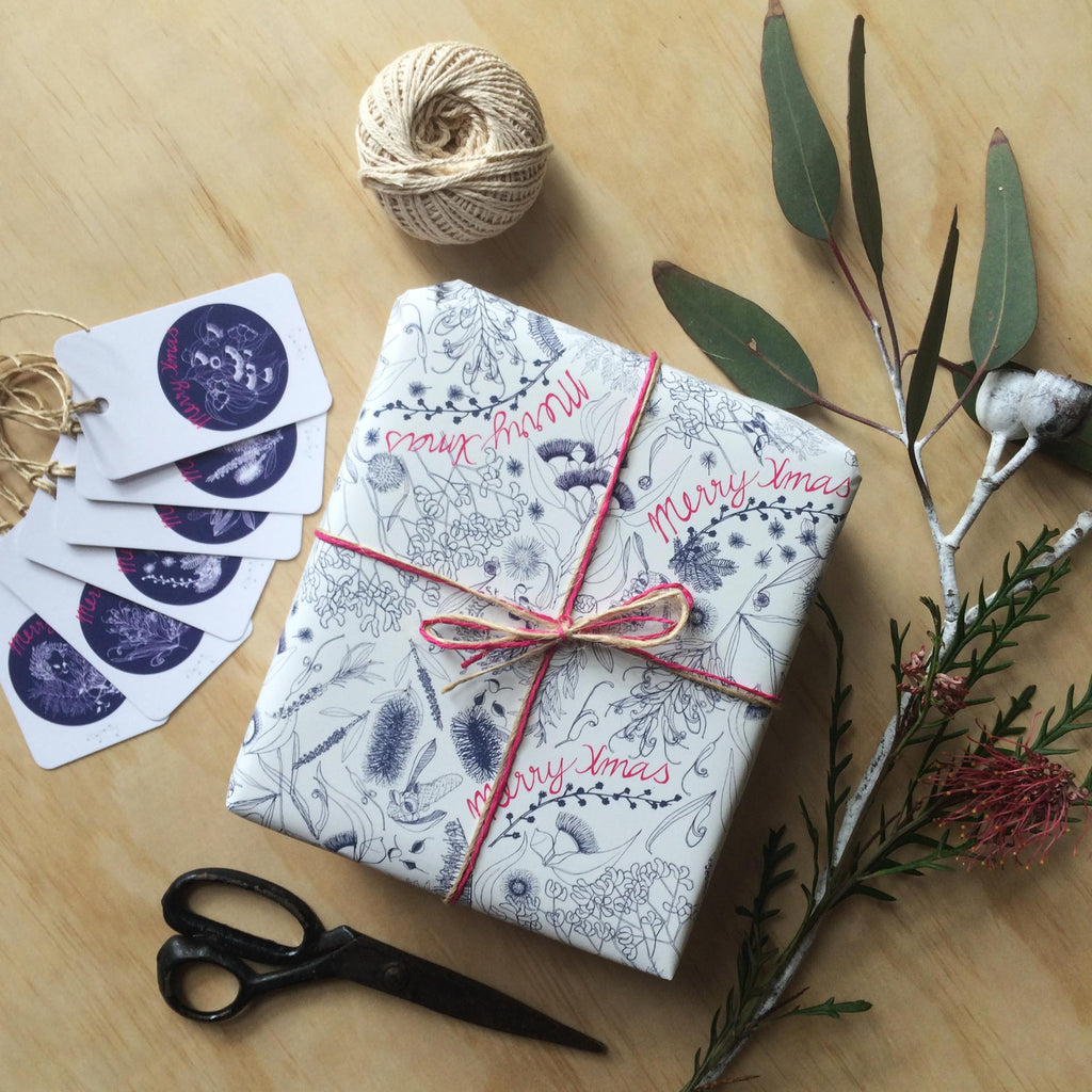 Australian Botanicals Christmas Gift Wrapping Paper