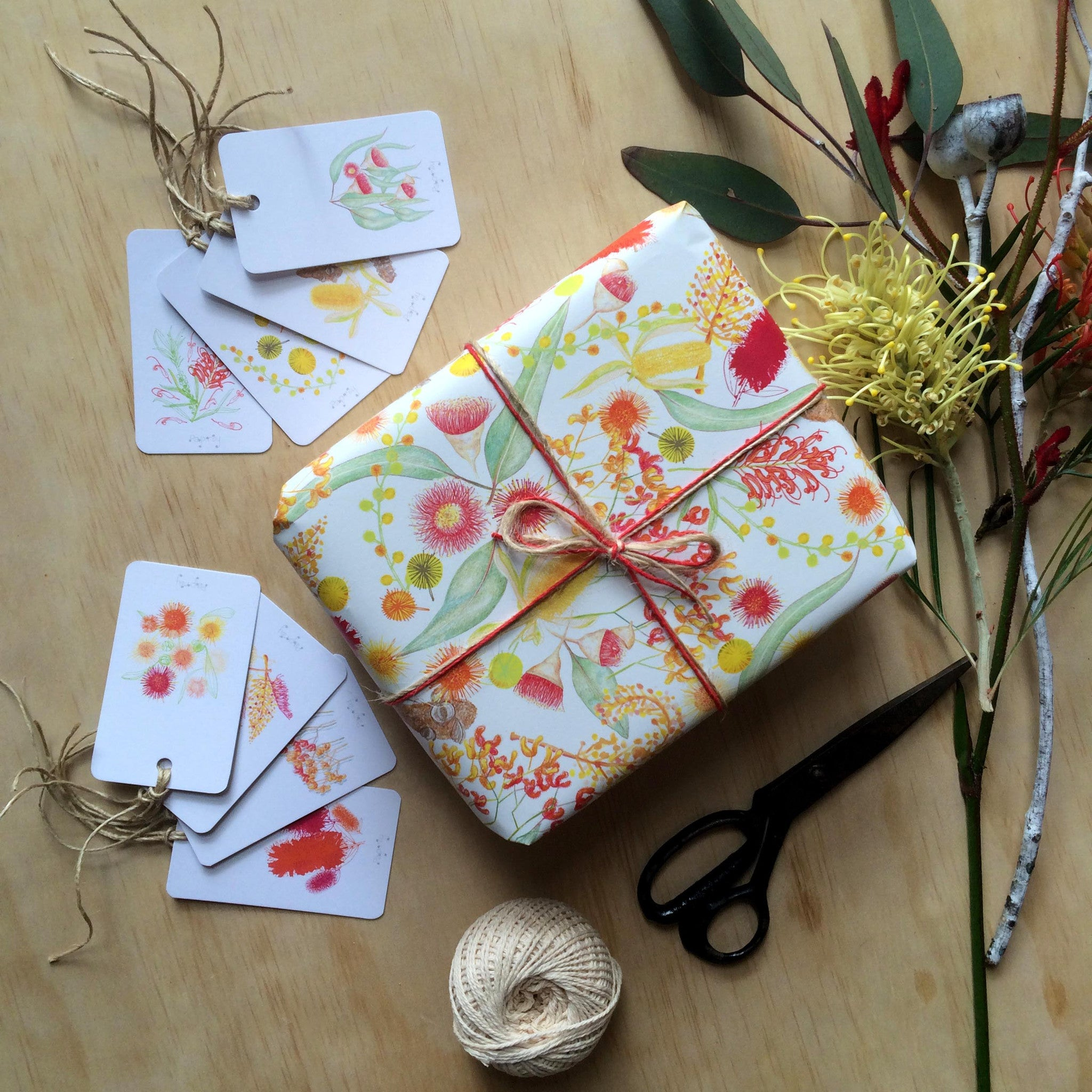 Australian botanicals white gift wrapping paper paprly australian botanicals white gift wrapping paper negle Gallery