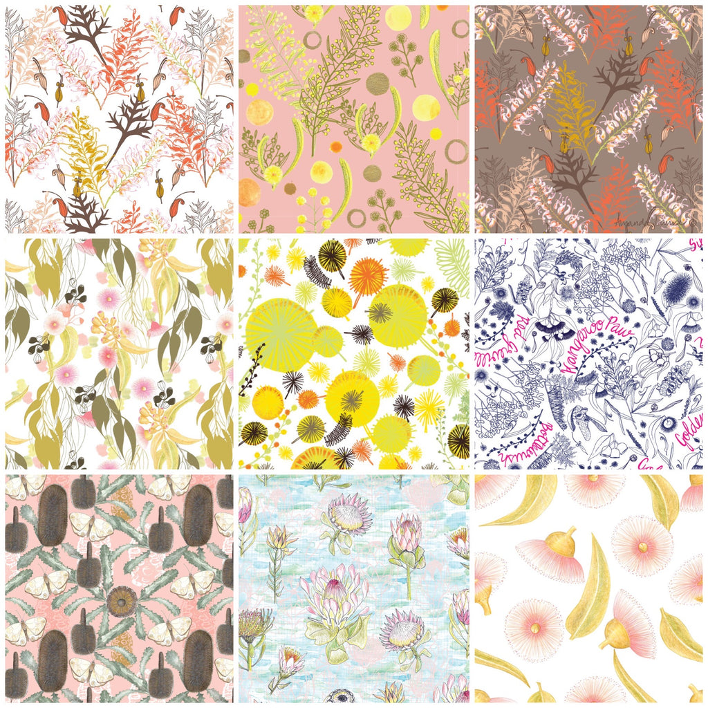 Australian Botanicals Fabrics by the metre